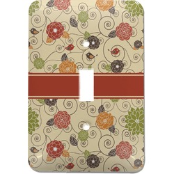 Fall Flowers Light Switch Cover (Single Toggle) (Personalized)
