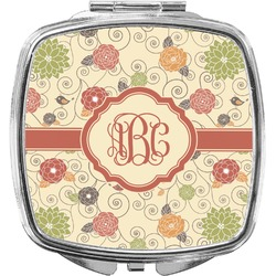 Fall Flowers Compact Makeup Mirror (Personalized)