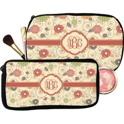 Fall Flowers Makeup / Cosmetic Bag (Personalized)