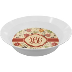 Fall Flowers Melamine Bowls (Personalized)
