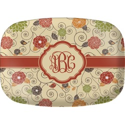 Fall Flowers Melamine Platter (Personalized)