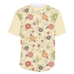 Fall Flowers Men's Crew T-Shirt (Personalized)