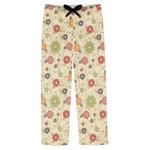 Fall Flowers Mens Pajama Pants (Personalized)