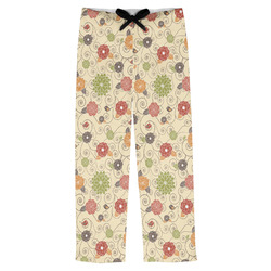 Fall Flowers Mens Pajama Pants (Personalized)