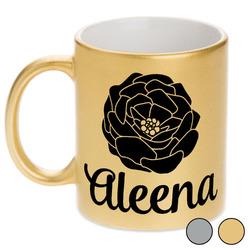 Fall Flowers Metallic Mug (Personalized)