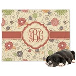 Fall Flowers Minky Dog Blanket (Personalized)