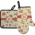 Fall Flowers Oven Mitt & Pot Holder (Personalized)