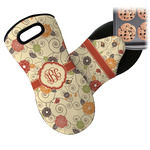 Fall Flowers Neoprene Oven Mitt (Personalized)