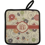 Fall Flowers Pot Holder (Personalized)