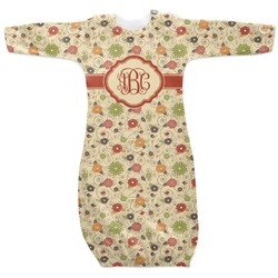 Fall Flowers Newborn Gown - 3-6 (Personalized)