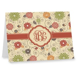Fall Flowers Note cards (Personalized)
