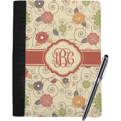 Fall Flowers Notebook Padfolio (Personalized)