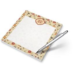 Fall Flowers Notepad (Personalized)