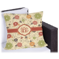 Fall Flowers Outdoor Pillow (Personalized)
