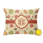 Fall Flowers Outdoor Throw Pillow (Rectangular) (Personalized)