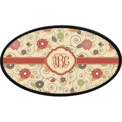 Fall Flowers Oval Trailer Hitch Cover (Personalized)