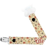 Fall Flowers Pacifier Clips (Personalized)
