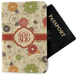 Fall Flowers Passport Holder - Fabric (Personalized)