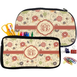 Fall Flowers Pencil / School Supplies Bag (Personalized)