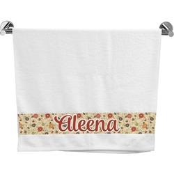 Fall Flowers Bath Towel (Personalized)