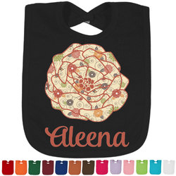 Fall Flowers Baby Bib - 14 Bib Colors (Personalized)
