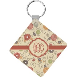 Fall Flowers Diamond Key Chain (Personalized)