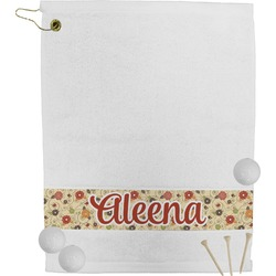 Fall Flowers Golf Bag Towel (Personalized)
