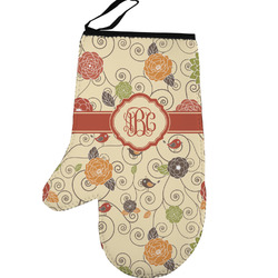Fall Flowers Left Oven Mitt (Personalized)