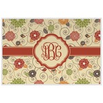Fall Flowers Laminated Placemat w/ Monogram