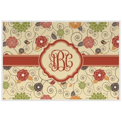 Fall Flowers Placemat (Laminated) (Personalized)