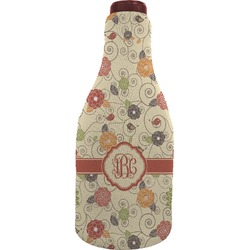 Fall Flowers Wine Sleeve (Personalized)