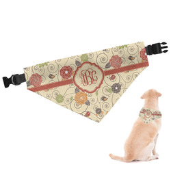 Fall Flowers Dog Bandana - Large (Personalized)