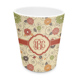 Fall Flowers Plastic Tumbler 6oz (Personalized)