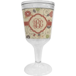 Fall Flowers Wine Tumbler (Personalized)