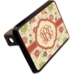 "Fall Flowers Rectangular Trailer Hitch Cover - 2"" (Personalized)"