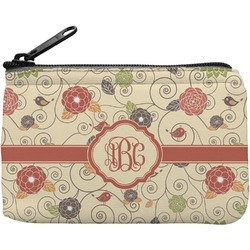 Fall Flowers Rectangular Coin Purse (Personalized)
