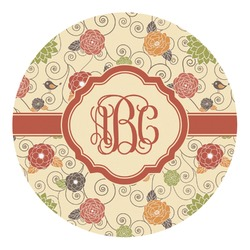 Fall Flowers Round Decal (Personalized)