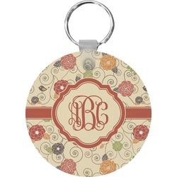 Fall Flowers Round Keychain (Personalized)