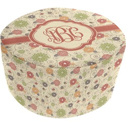 Fall Flowers Round Pouf Ottoman (Personalized)