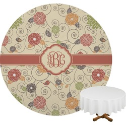 Fall Flowers Round Tablecloth (Personalized)