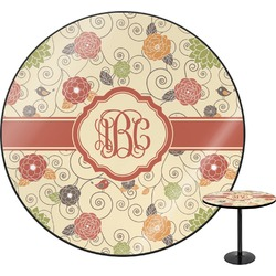 Fall Flowers Round Table (Personalized)
