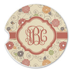 Fall Flowers Sandstone Car Coasters (Personalized)