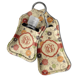 Fall Flowers Hand Sanitizer & Keychain Holder (Personalized)