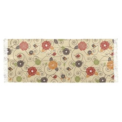 Fall Flowers Faux Pashmina Scarf (Personalized)