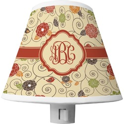 Fall Flowers Shade Night Light (Personalized)