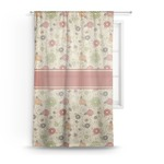 Fall Flowers Sheer Curtains (Personalized)