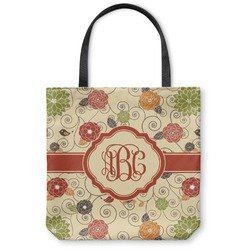 Fall Flowers Canvas Tote Bag (Personalized)