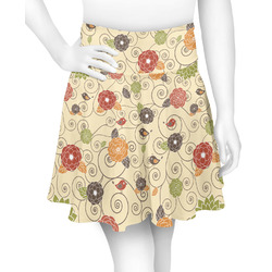Fall Flowers Skater Skirt (Personalized)