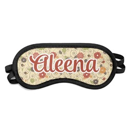 Fall Flowers Sleeping Eye Mask (Personalized)