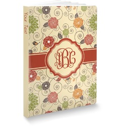 Fall Flowers Softbound Notebook (Personalized)